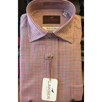 Laksen David Houndstooth Cotton And Wool Sporting Shirt