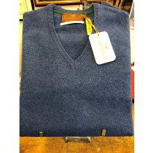 Laksen Men's Yates V Neck Sweater Azur Blue