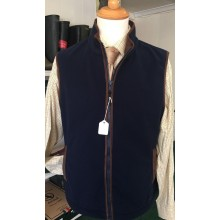 Mens Nomaduk Gilet Blue Windproof Fleece