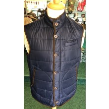 Laksen Donnington Quilted Vest Navy