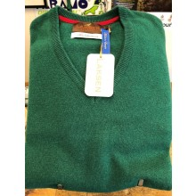 Laksen Men's Yates V-Neck Sweater Field Green Jumper.
